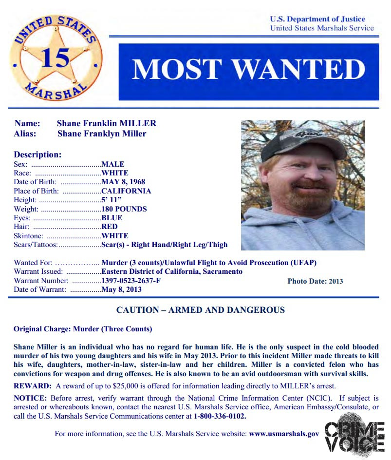 """Shasta County Man Added to U S  Marshal's """"Most Wanted"""" List"""